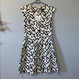 French connection black and white dress size 4